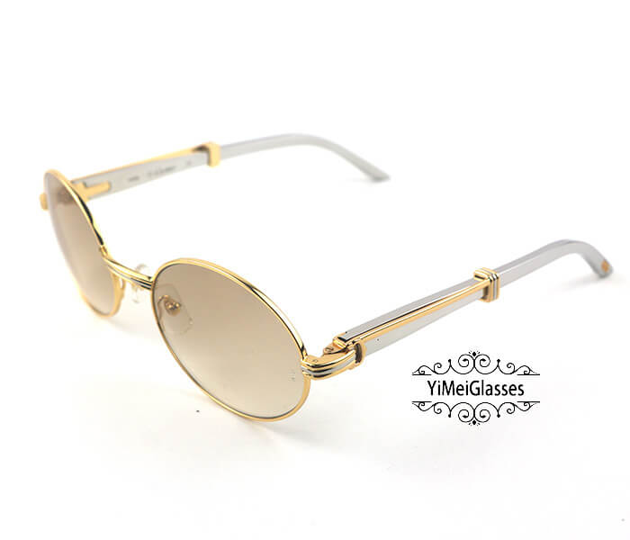 Cartier Stainless Steel Full Frame Classic Sunglasses CT7550178-57插图(22)