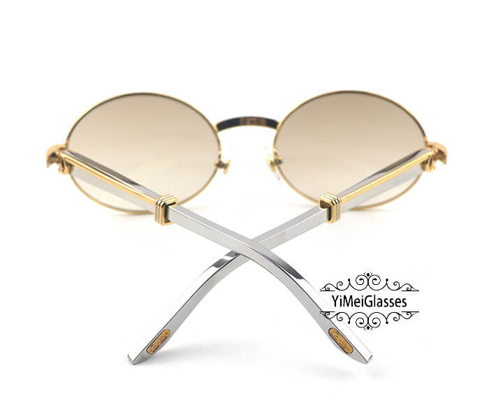 Cartier Stainless Steel Full Frame Classic Sunglasses CT7550178-57插图23