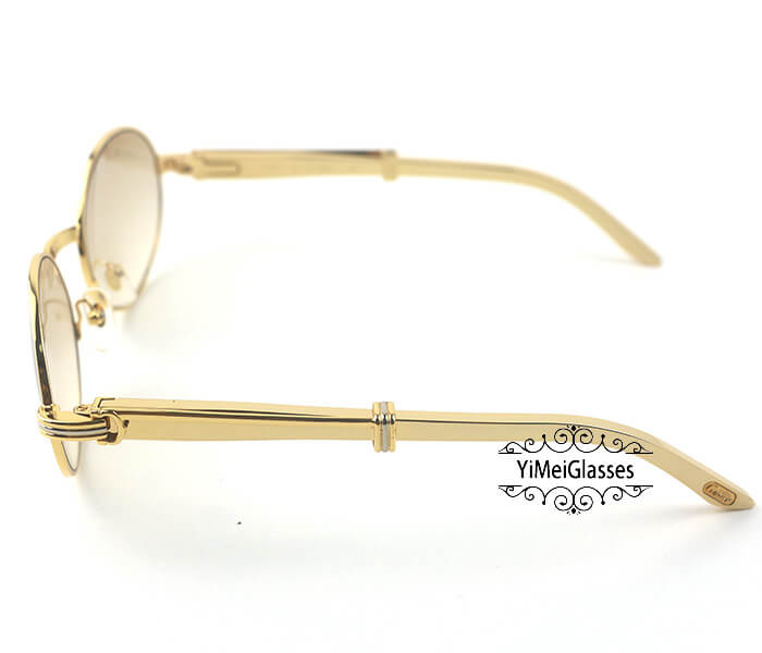Cartier Stainless Steel Full Frame Classic Sunglasses CT7550178-57插图(2)