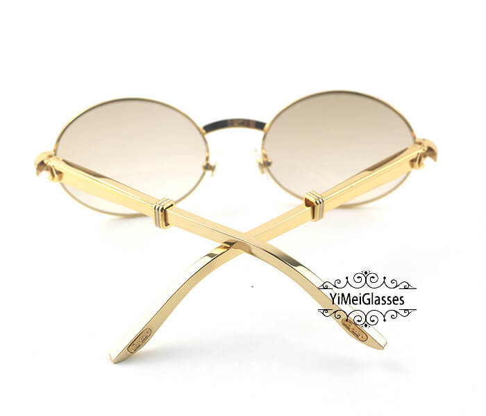 Cartier Stainless Steel Full Frame Classic Sunglasses CT7550178-57插图(5)