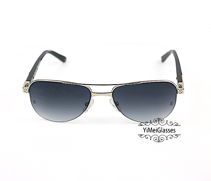 Cartier Acetate&Metal Half Frame Double Bridge Design Sunglasses CT6101002插图