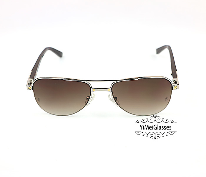 Cartier Acetate&Metal Half Frame Double Bridge Design Sunglasses CT6101002插图9