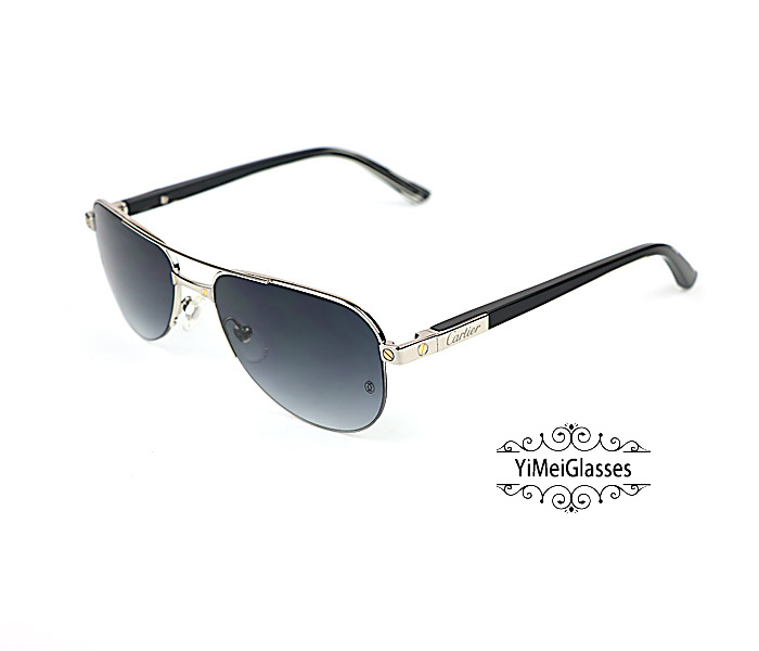 Cartier Acetate&Metal Half Frame Double Bridge Design Sunglasses CT6101002插图1