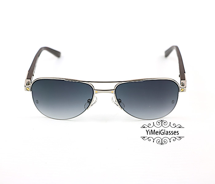 Cartier Acetate&Metal Half Frame Double Bridge Design Sunglasses CT6101002插图11