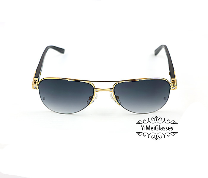 Cartier Acetate&Metal Half Frame Double Bridge Design Sunglasses CT6101002插图13