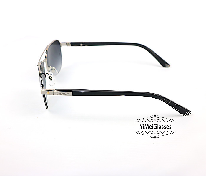Cartier Acetate&Metal Half Frame Double Bridge Design Sunglasses CT6101002插图2