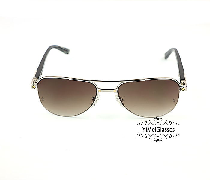 Cartier Acetate&Metal Half Frame Double Bridge Design Sunglasses CT6101002插图15