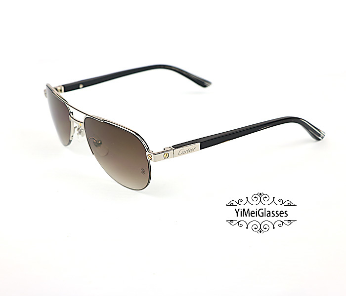 Cartier Acetate&Metal Half Frame Double Bridge Design Sunglasses CT6101002插图16