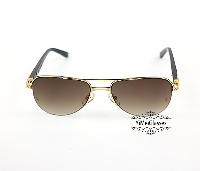 Cartier Acetate&Metal Half Frame Double Bridge Design Sunglasses CT6101002插图17