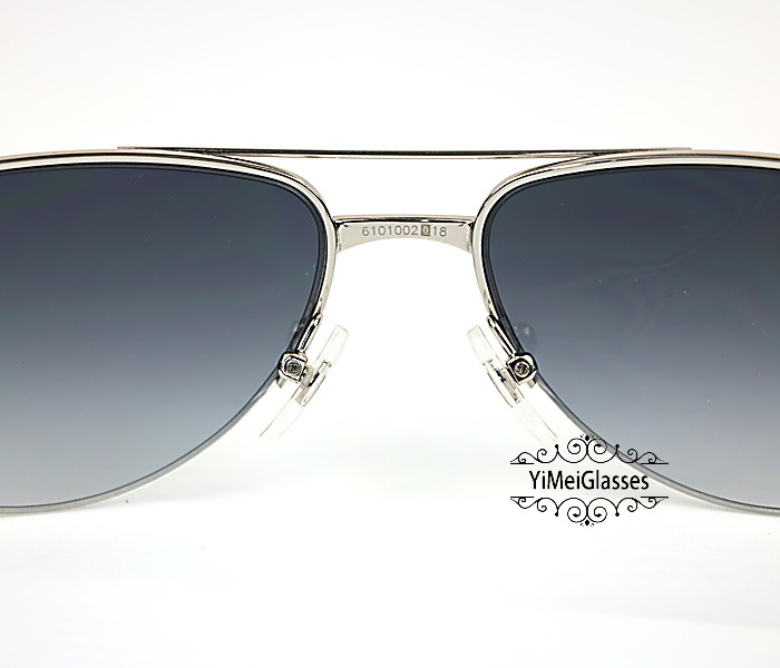 Cartier Acetate&Metal Half Frame Double Bridge Design Sunglasses CT6101002插图3
