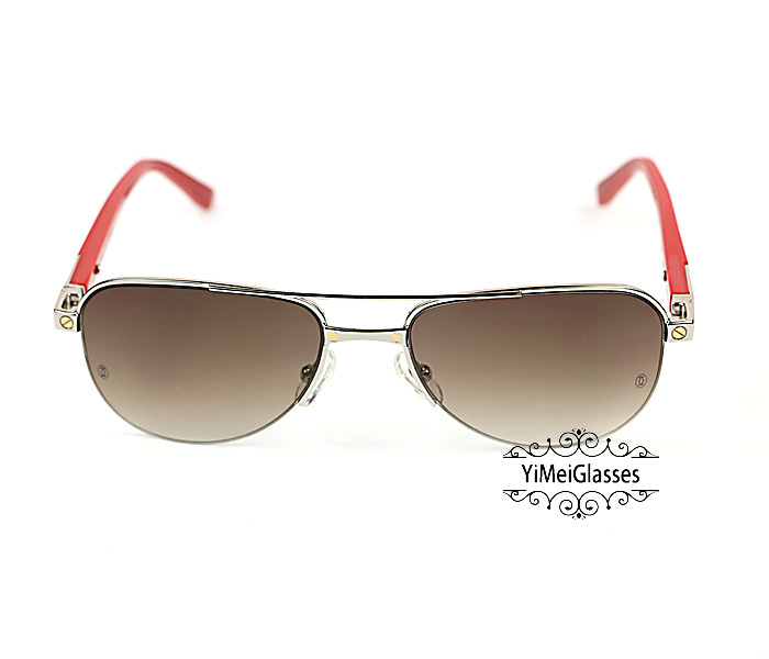 Cartier Acetate&Metal Half Frame Double Bridge Design Sunglasses CT6101002插图21
