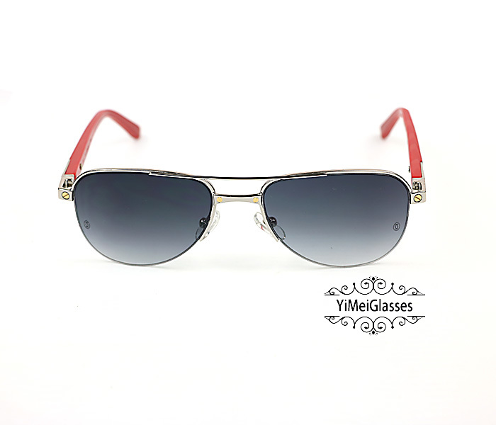Cartier Acetate&Metal Half Frame Double Bridge Design Sunglasses CT6101002插图5