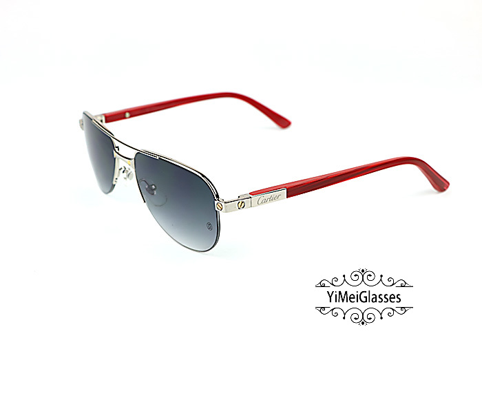 Cartier Acetate&Metal Half Frame Double Bridge Design Sunglasses CT6101002插图6