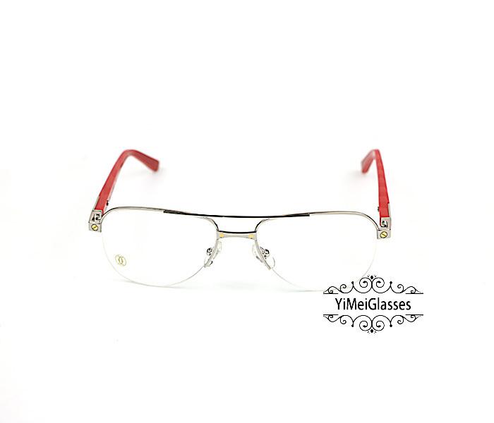 Cartier Acetate&Metal Half Frame Double Bridge Design Optical Glasses CT6101002插图8