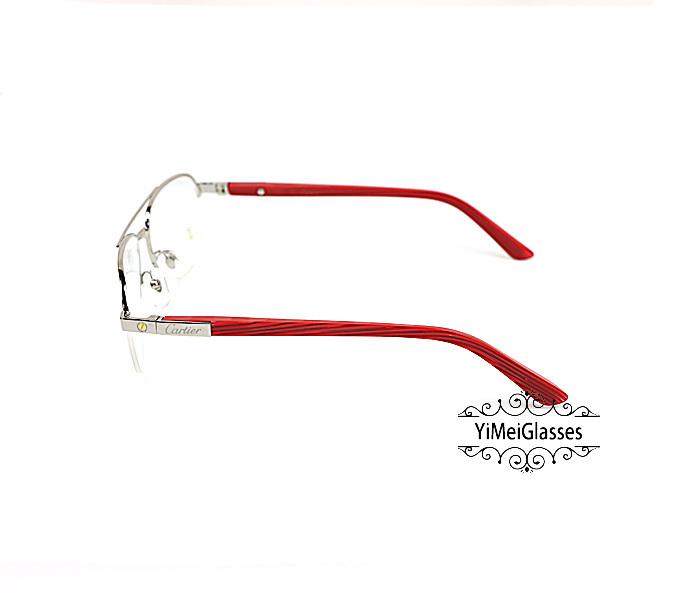 Cartier Acetate&Metal Half Frame Double Bridge Design Optical Glasses CT6101002插图10