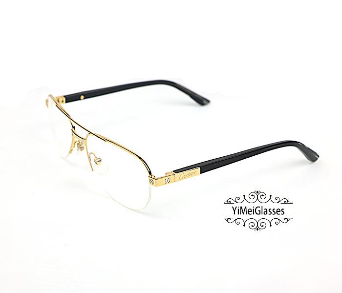 Cartier Acetate&Metal Half Frame Double Bridge Design Optical Glasses CT6101002插图12