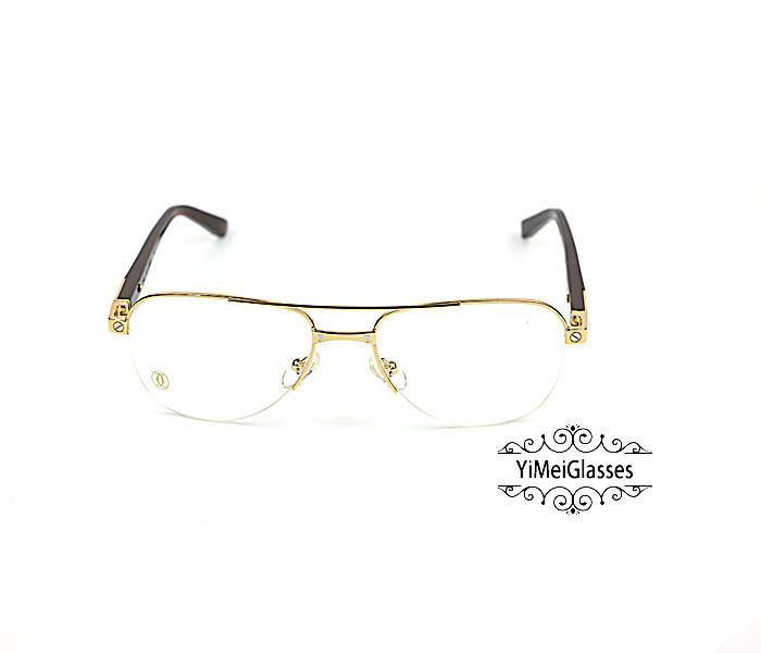Cartier Acetate&Metal Half Frame Double Bridge Design Optical Glasses CT6101002插图14