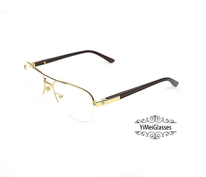 Cartier Acetate&Metal Half Frame Double Bridge Design Optical Glasses CT6101002插图15