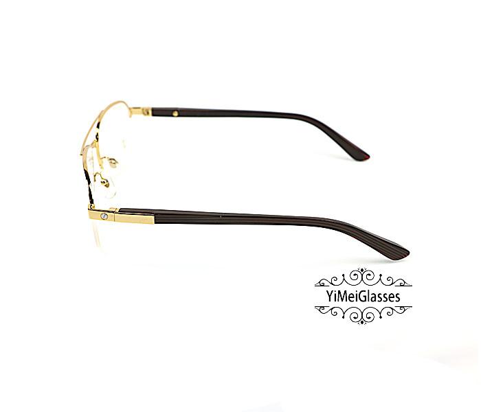 Cartier Acetate&Metal Half Frame Double Bridge Design Optical Glasses CT6101002插图16