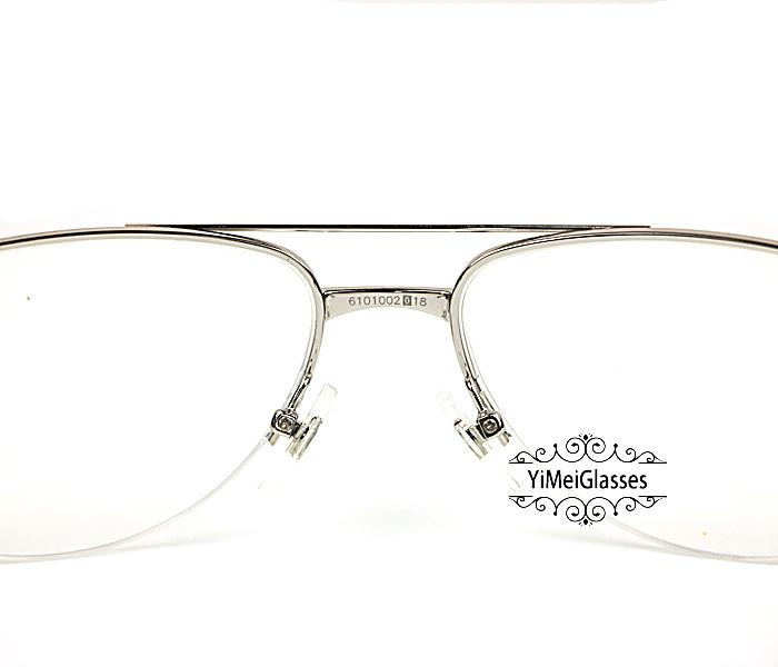 Cartier Acetate&Metal Half Frame Double Bridge Design Optical Glasses CT6101002插图3