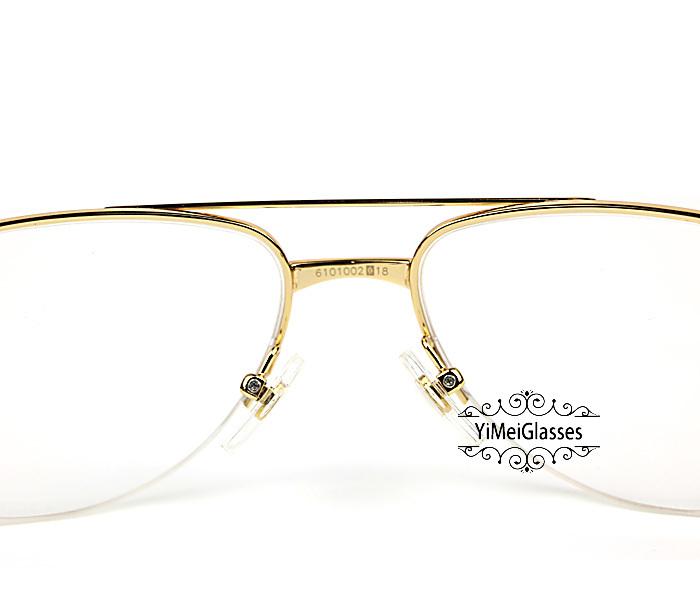 Cartier Wooden Half Frame Double Bridge Design Optical Glasses CT6101002插图3