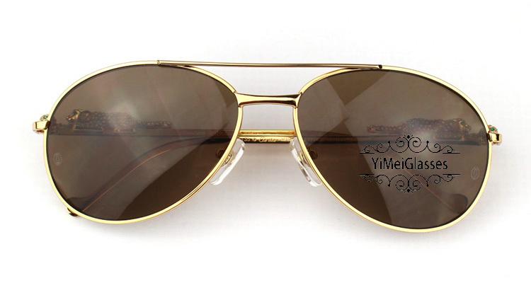 Cartier PANTHÈRE Aviators Diamond Metal Full Frame Sunglasses CT6384080插图
