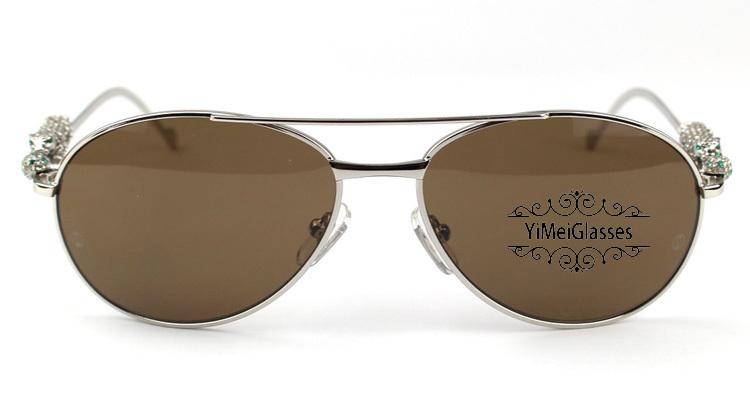 Cartier PANTHÈRE Aviators Diamond Metal Full Frame Sunglasses CT6384080插图10