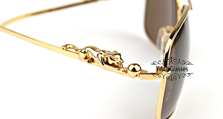 Cartier PANTHÈRE Aviators Diamond Metal Full Frame Sunglasses CT6384080插图(30)