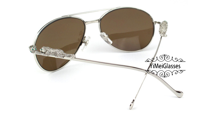 Cartier PANTHÈRE Aviators Diamond Metal Full Frame Sunglasses CT6384080插图(15)