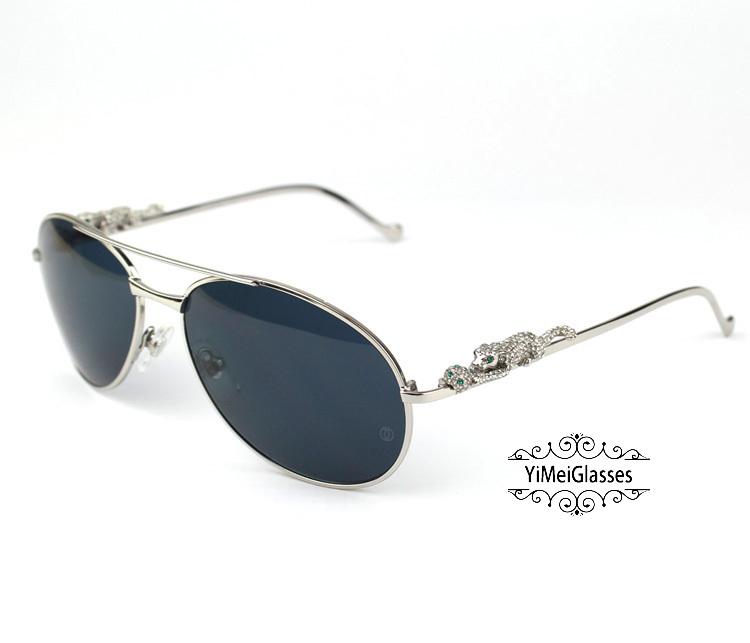Cartier PANTHÈRE Aviators Diamond Metal Full Frame Sunglasses CT6384080插图(18)