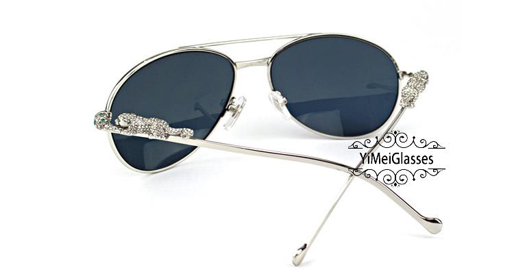 Cartier PANTHÈRE Aviators Diamond Metal Full Frame Sunglasses CT6384080插图(22)