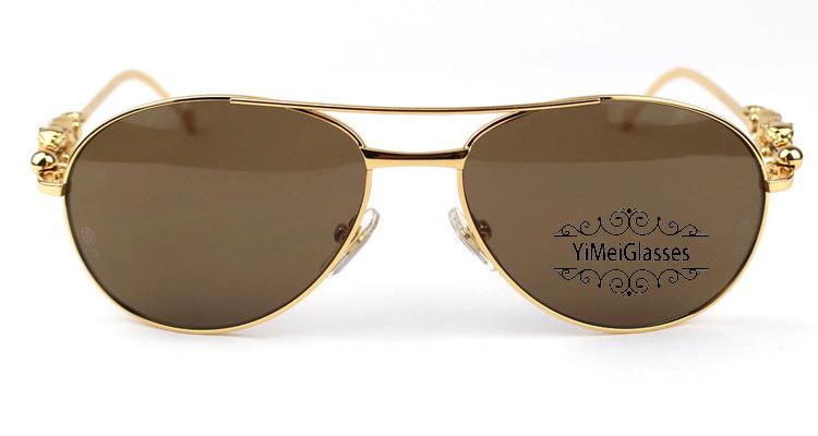 Cartier PANTHÈRE Aviators Diamond Metal Full Frame Sunglasses CT6384080插图(24)