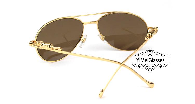 Cartier PANTHÈRE Aviators Diamond Metal Full Frame Sunglasses CT6384080插图(29)