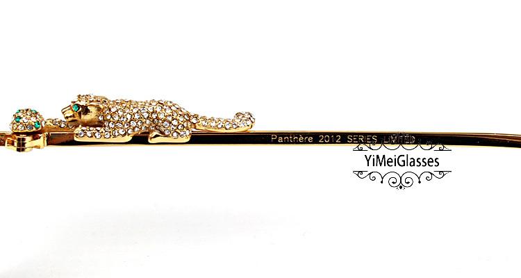 Cartier PANTHÈRE Aviators Diamond Metal Full Frame Sunglasses CT6384080插图7