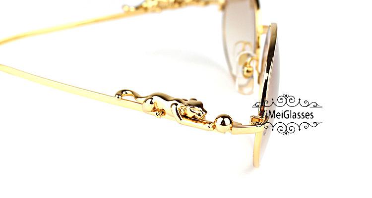Cartier PANTHÈRE Diamond Metal Full Frame Sunglasses CT6384082插图9
