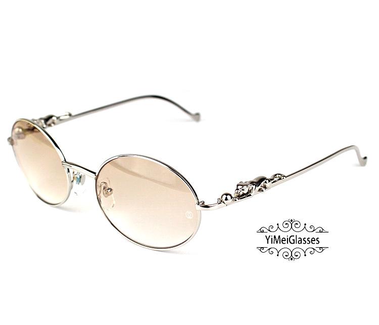 Cartier PANTHÈRE Diamond Metal Full Frame Sunglasses CT6384082插图11