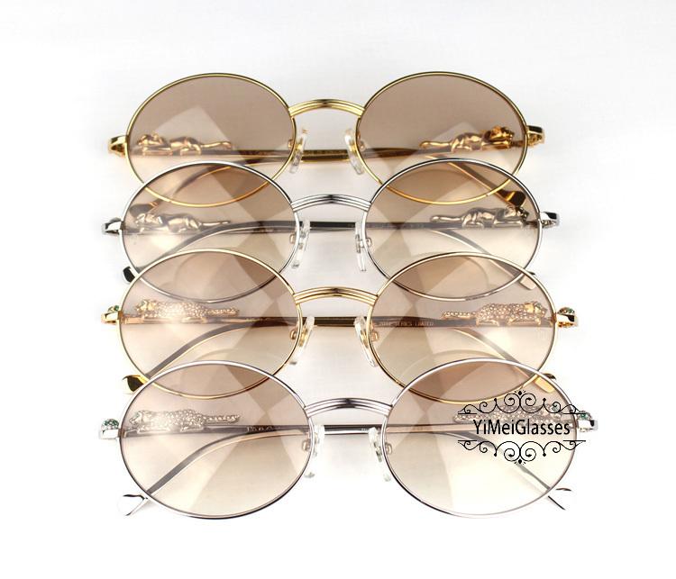 Cartier PANTHÈRE Diamond Metal Full Frame Sunglasses CT6384082插图