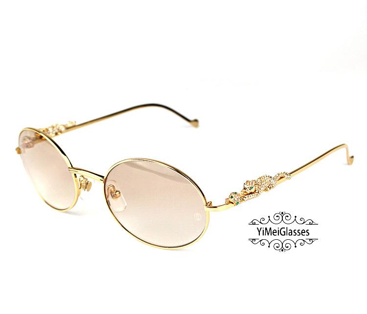 Cartier PANTHÈRE Diamond Metal Full Frame Sunglasses CT6384082插图19