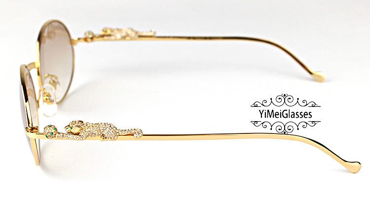 Cartier PANTHÈRE Diamond Metal Full Frame Sunglasses CT6384082插图20