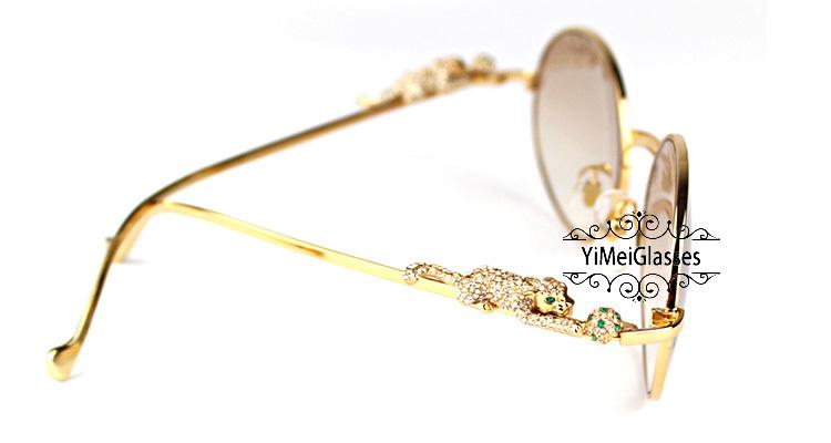 Cartier PANTHÈRE Diamond Metal Full Frame Sunglasses CT6384082插图24