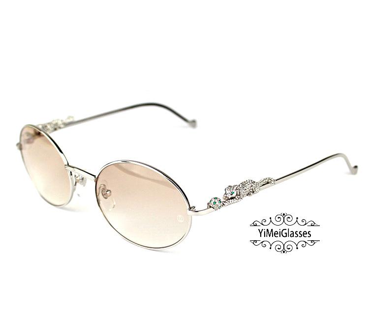 Cartier PANTHÈRE Diamond Metal Full Frame Sunglasses CT6384082插图26