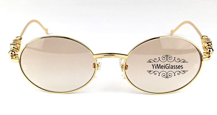Cartier PANTHÈRE Diamond Metal Full Frame Sunglasses CT6384082插图2