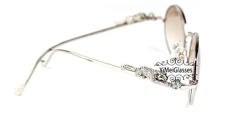 Cartier PANTHÈRE Diamond Metal Full Frame Sunglasses CT6384082插图31