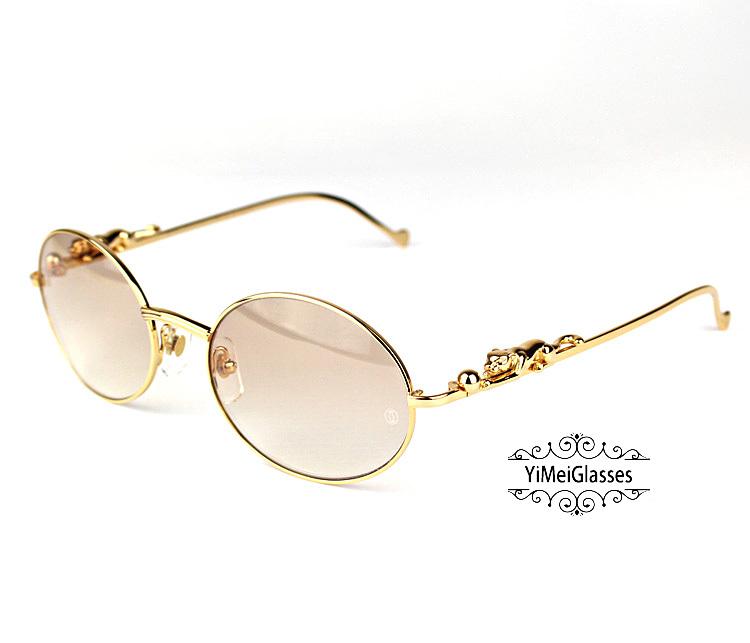 Cartier PANTHÈRE Diamond Metal Full Frame Sunglasses CT6384082插图3