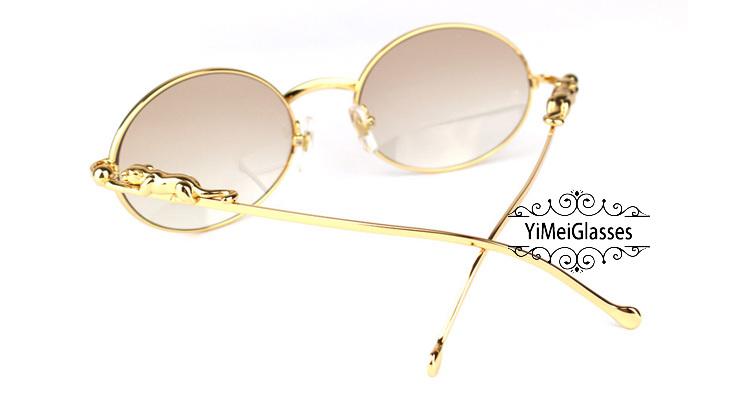 Cartier PANTHÈRE Diamond Metal Full Frame Sunglasses CT6384082插图8