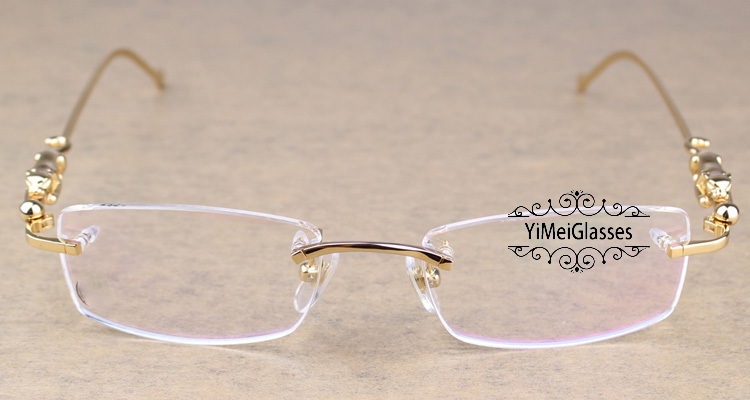 Cartier PANTHÈRE Diamond Metal Rimless EyeGlasses CT6384083插图13