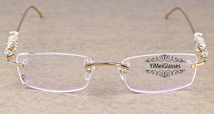 Cartier PANTHÈRE Diamond Metal Rimless EyeGlasses CT6384083插图1
