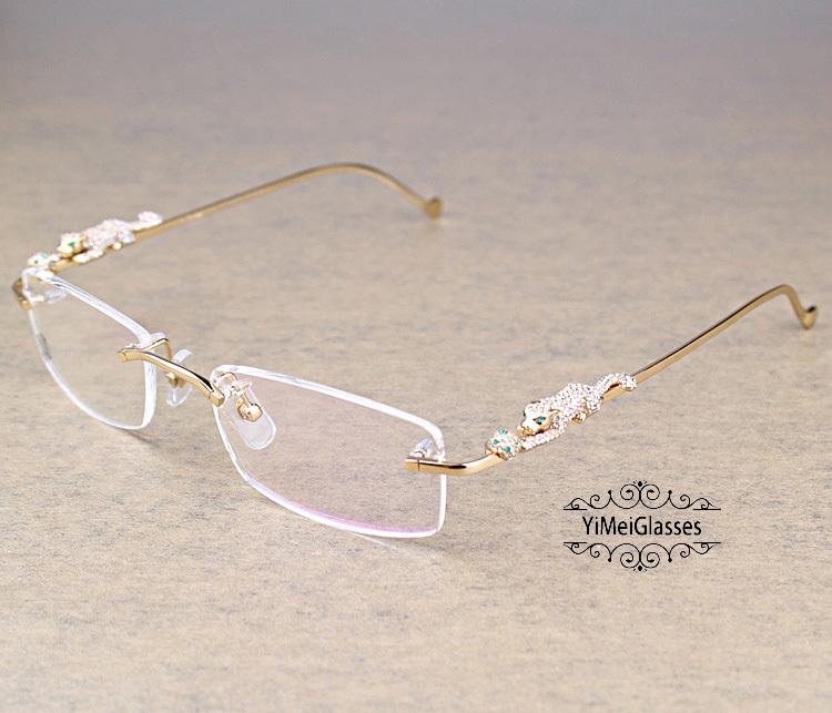 Cartier PANTHÈRE Diamond Metal Rimless EyeGlasses CT6384083插图2
