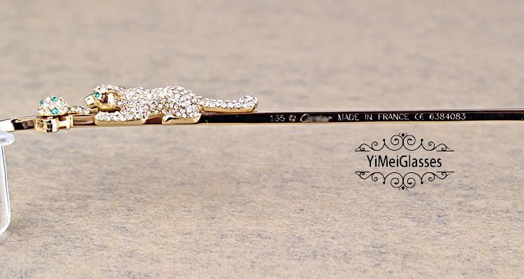 Cartier PANTHÈRE Diamond Metal Rimless EyeGlasses CT6384083插图4