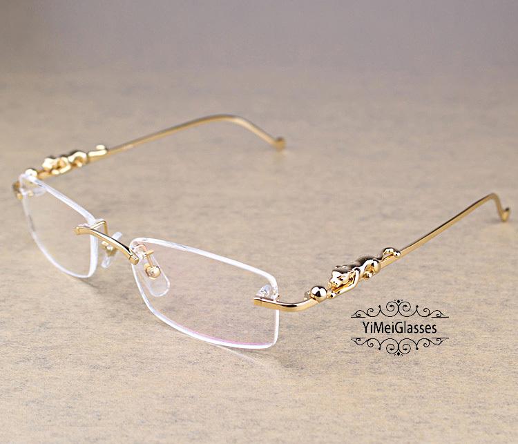 Cartier PANTHÈRE Diamond Metal Rimless EyeGlasses CT6384083插图14